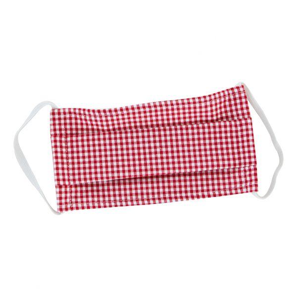 Schutzmaske Rot - Weiß
