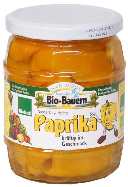 Paprika im Glas gelb