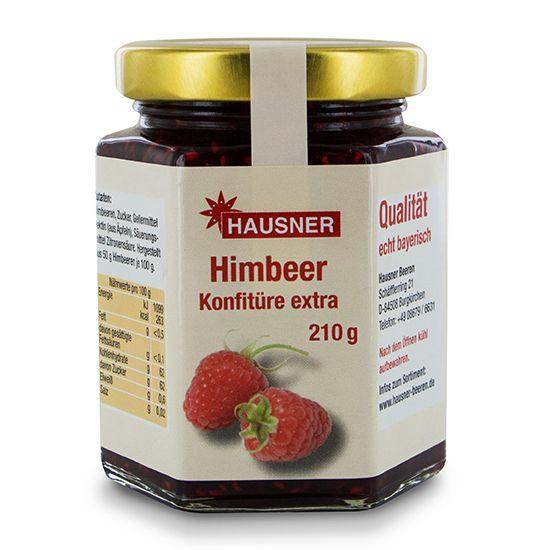 Himbeer Konfitüre Extra im 210 Gramm Glas