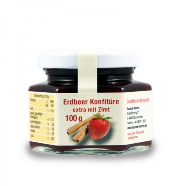 Erdbeer Konfitüre extra mit Zimt