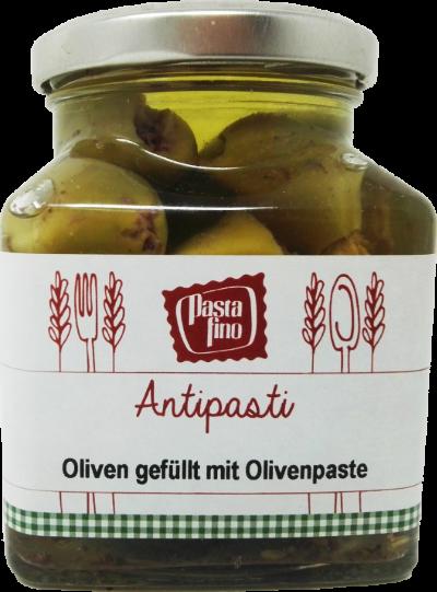 39023_Grüne-Oliven-gefüllt-mit-Olivenpaste_Pasta-Fino_Hofladen-Bayern-de