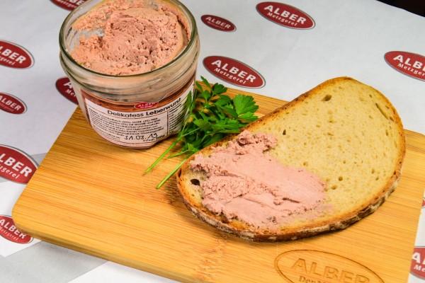 Delikatess Leberwurst im 200 ml Glas