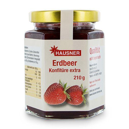 Erdbeer Konfitüre Extra im 210 Gramm Glas