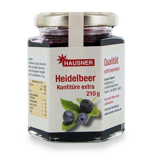 Heidelbeer Konfitüre Extra im 210 Gramm Glas