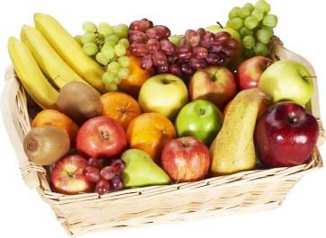 Verschiedene Obstsorten in der 6 Kilo Box