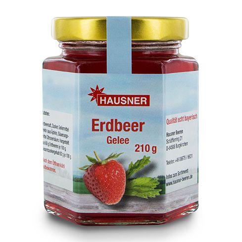 Erdbeer Gelee im 210 Gramm Glas