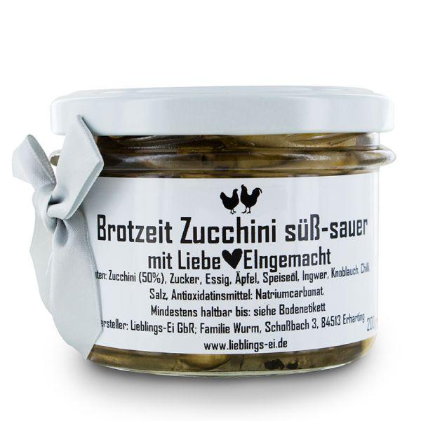 Brotzeit Zucchini süß-sauer
