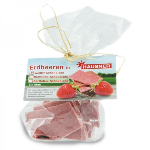 Weiße Schokolade mit Erdbeeren