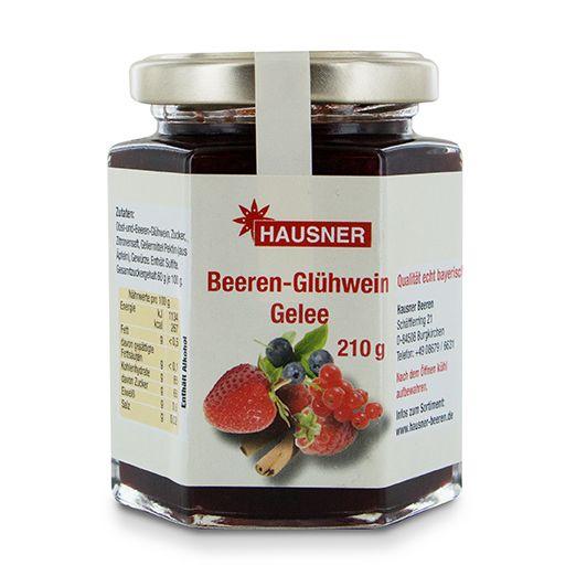 Beeren-Glühwein Gelee im 210 Gramm Glas