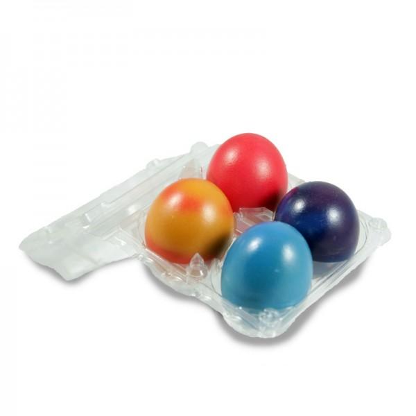 4x Bunte Lieblings-Eier aus mobiler Freilandhaltung