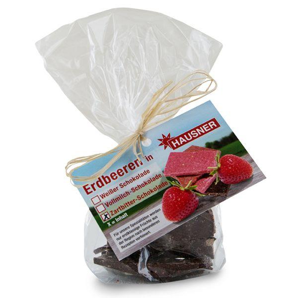 Erdbeeren in Zartbitterschokolade