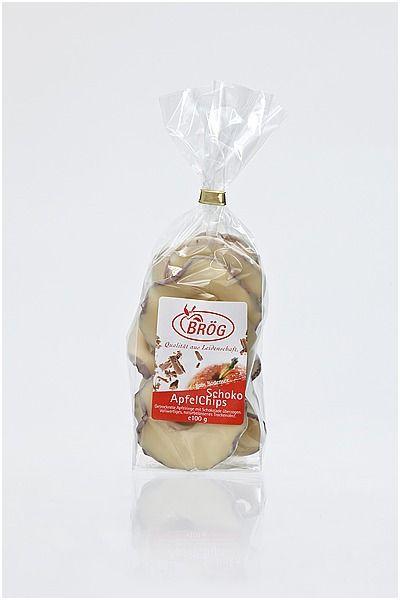 Apfelchips mit Weißer Schokolade